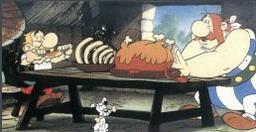 Кадр из мультфильма про астерикса и
