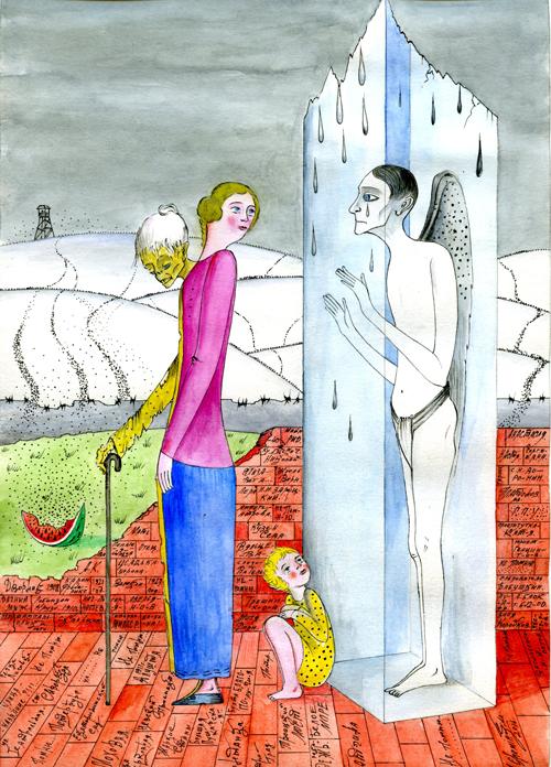 Рисунок Михаила Шемякина для обложки «Авиатора»