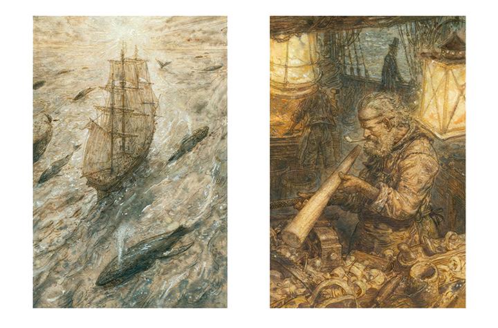 Иллюстрации Антона Ломаева к роману «Моби Дик, или Белый кит»