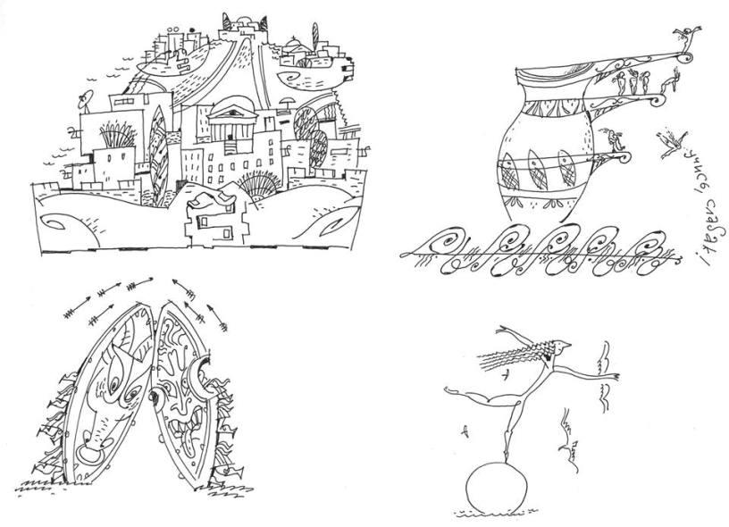 Иллюстрации к Усачеву из фейсбука художника Алексея Капнинского