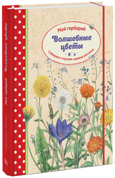 """Стефани Циск """"Волшебные цветы. Мой гербарий. Собираем и изучаем садовые растения"""""""