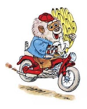 Бананас крадет мотоцикл и связку бананов