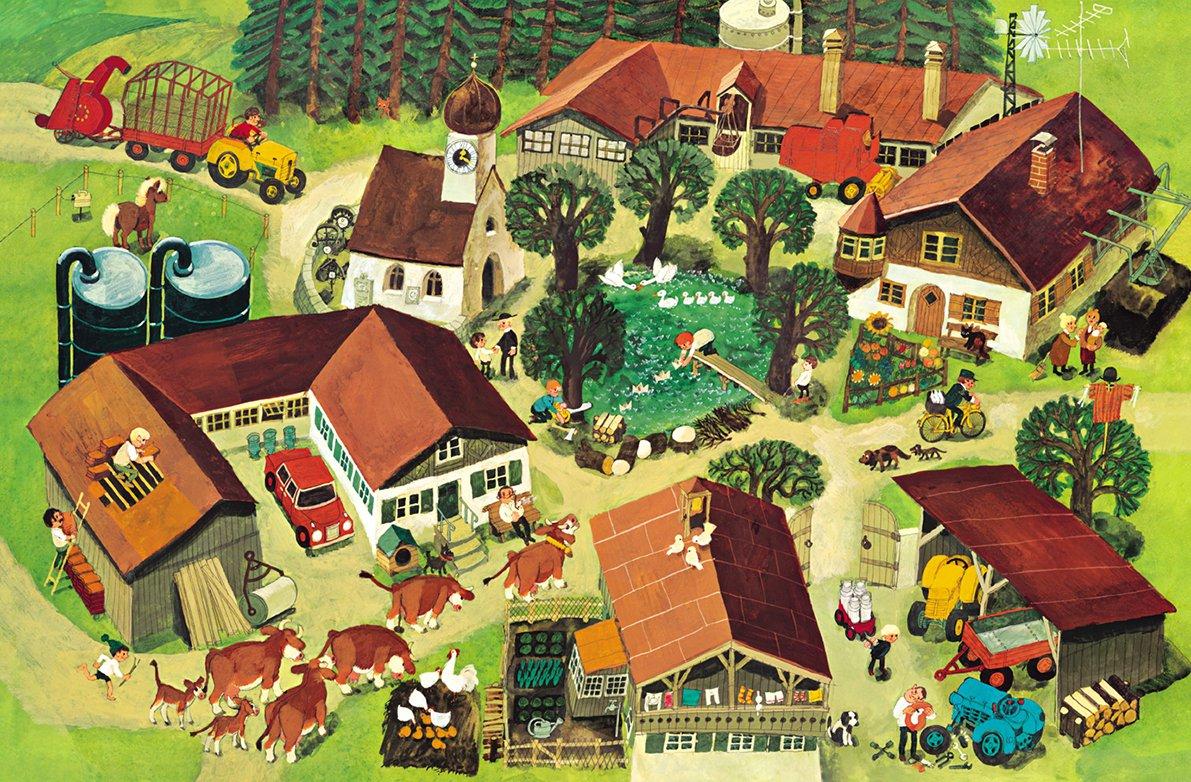 Городские и деревенские дома картинки для детей