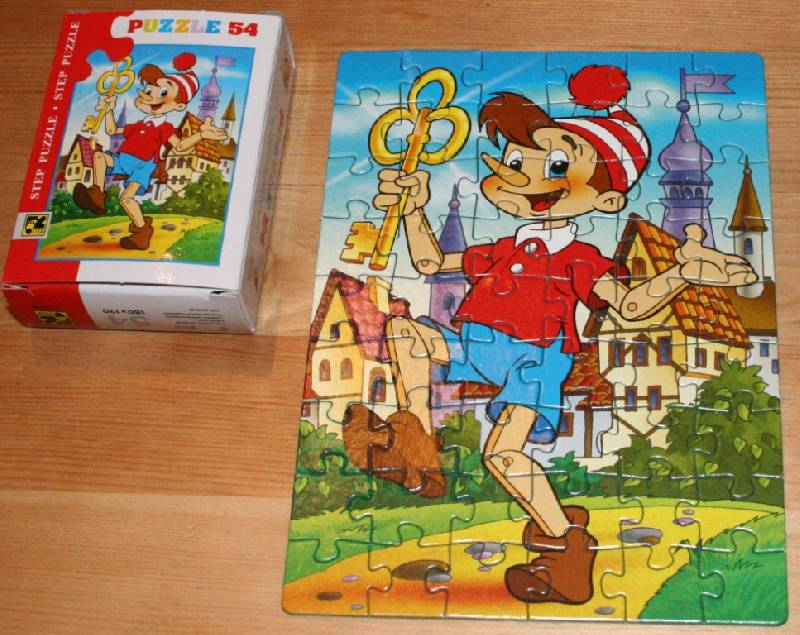 """Иллюстрация 1 из 5 для Step Puzzle-54 """"Буратино"""" (71024)   Лабиринт - игрушки. Источник: Котёнок по имени Гав"""