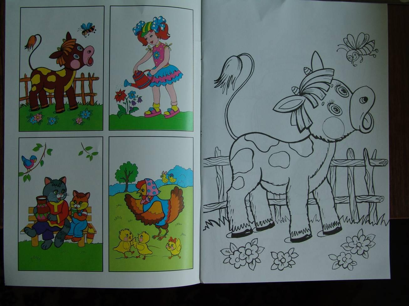 Иллюстрация 1 из 2 для Посмотри и раскрась: У бабушки в деревне | Лабиринт - книги. Источник: Лаванда