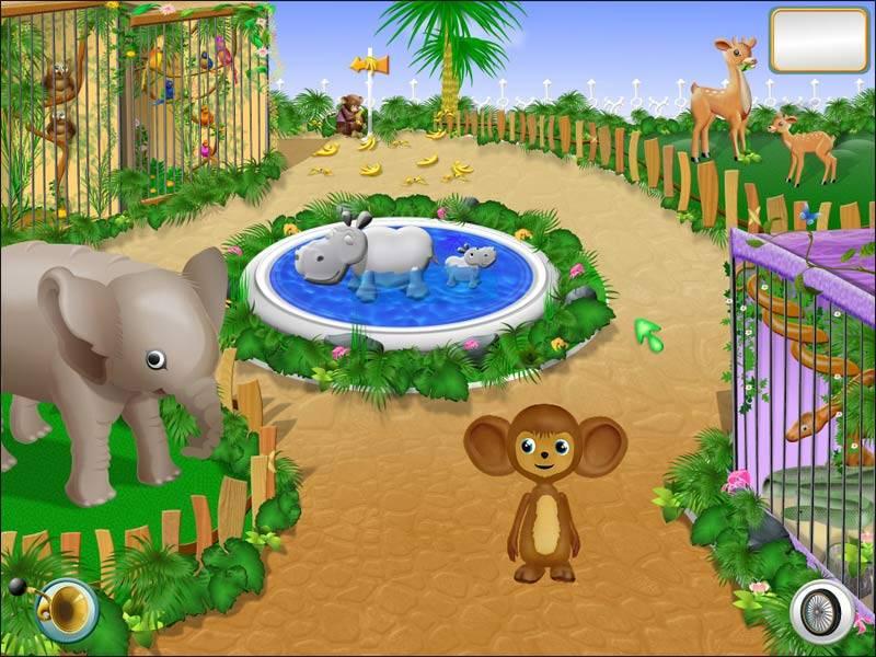 Иллюстрация 1 из 3 для Чебурашка в зоопарке. Логика-2 (CDpc) | Лабиринт - софт. Источник: МЕГ