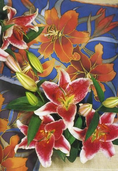 Иллюстрация 1 из 30 для Расписываем цветы по шелку - Мэнди Саутан | Лабиринт - книги. Источник: Panterra