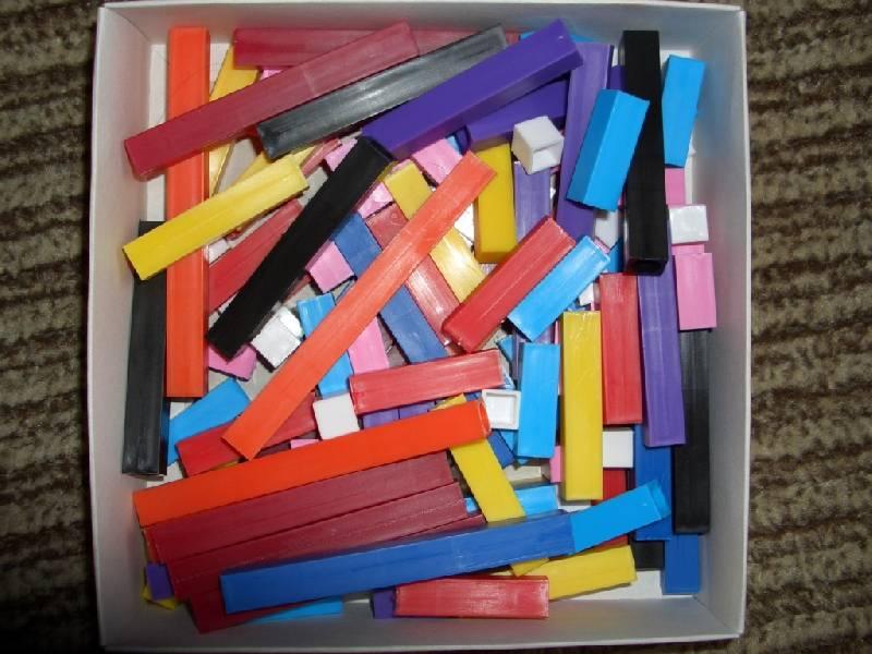 Иллюстрация 1 из 6 для Цветные счетные палочки Кюизенера | Лабиринт - игрушки. Источник: sher