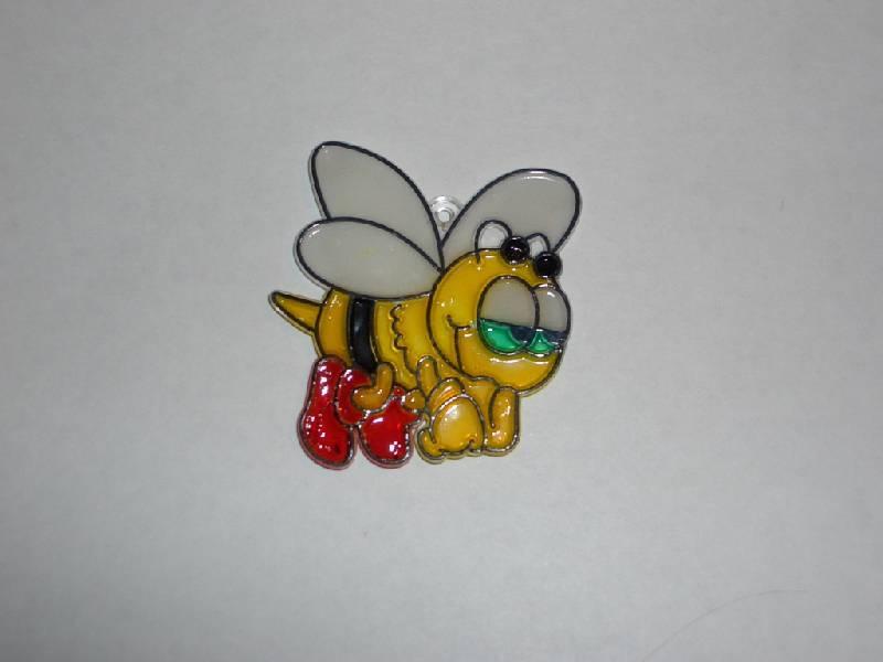 Иллюстрация 1 из 5 для Витраж малый: Пчелка | Лабиринт - игрушки. Источник: sher