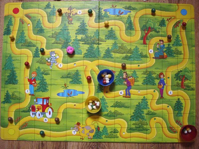 """Иллюстрация 1 из 2 для Игра """"За грибами в Простоквашино""""   Лабиринт - игрушки. Источник: OOlga"""