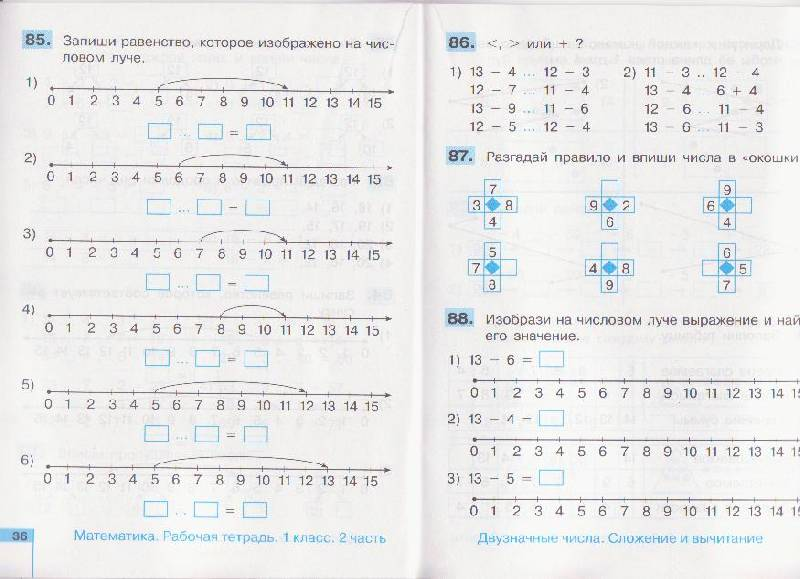Истомина тетрадь часть 1 2 рабочая редько математика класс гдз