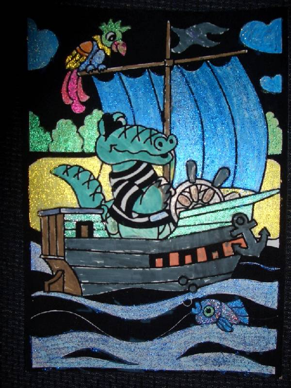 Иллюстрация 1 из 2 для Бархатная раскраска: Крокодил-путешественник (1532) | Лабиринт - игрушки. Источник: sher