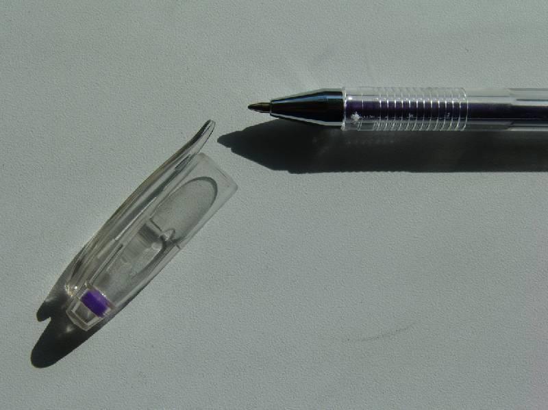 Иллюстрация 1 из 2 для Ручка гелевая фиолетовая металлик (HJR-500GSM) | Лабиринт - канцтовы. Источник: Лаванда