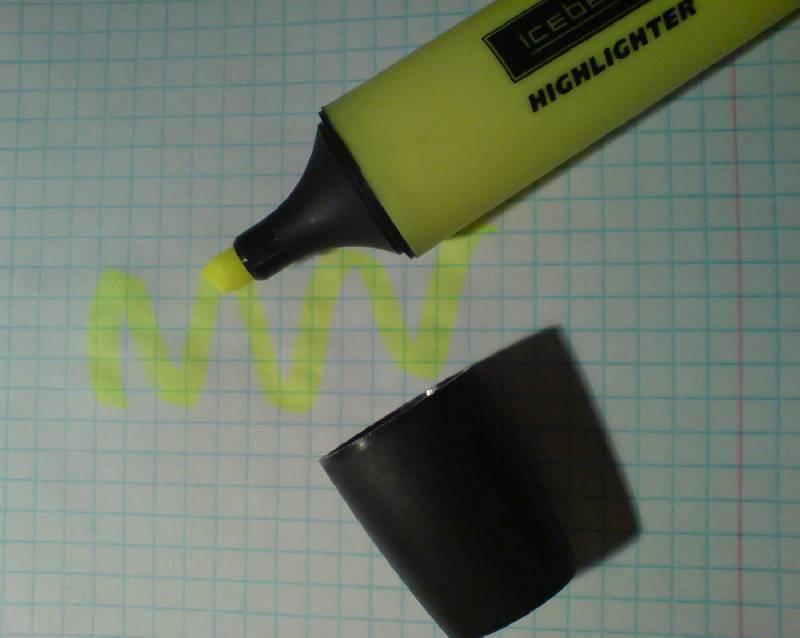 Иллюстрация 1 из 2 для Текстовыделитель HLF-01 желтый пишущий узел 1-5мм | Лабиринт - канцтовы. Источник: Cattus
