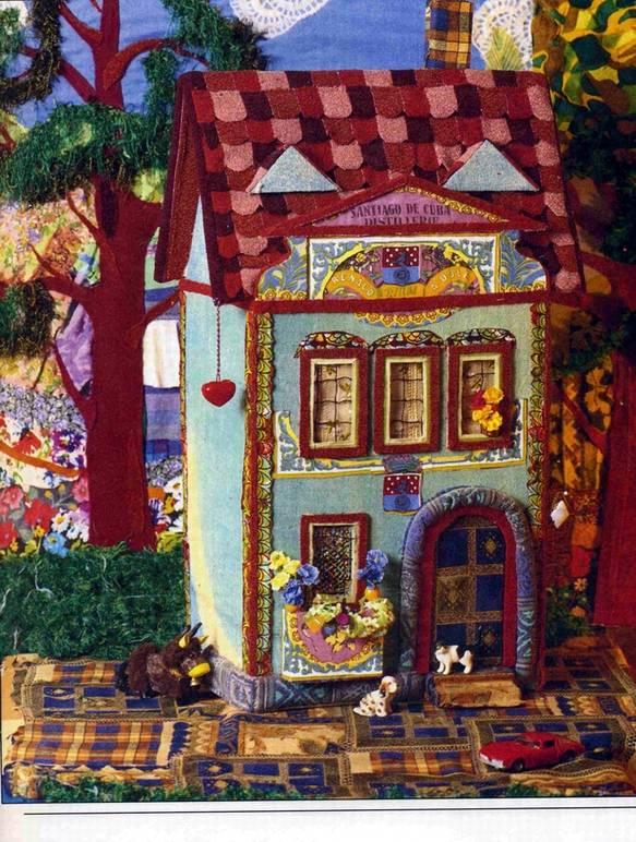 Иллюстрация 1 из 4 для Аппликация. Дом из ткани - Ксения Митителло | Лабиринт - книги. Источник: Panterra