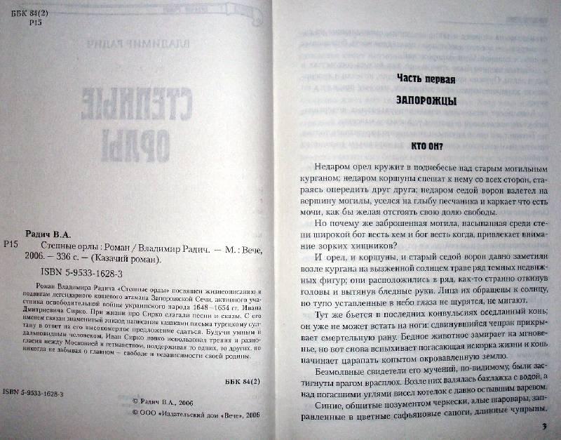 Иллюстрация 1 из 4 для Степные орлы: Роман - Владимир Радич | Лабиринт - книги. Источник: Мефи