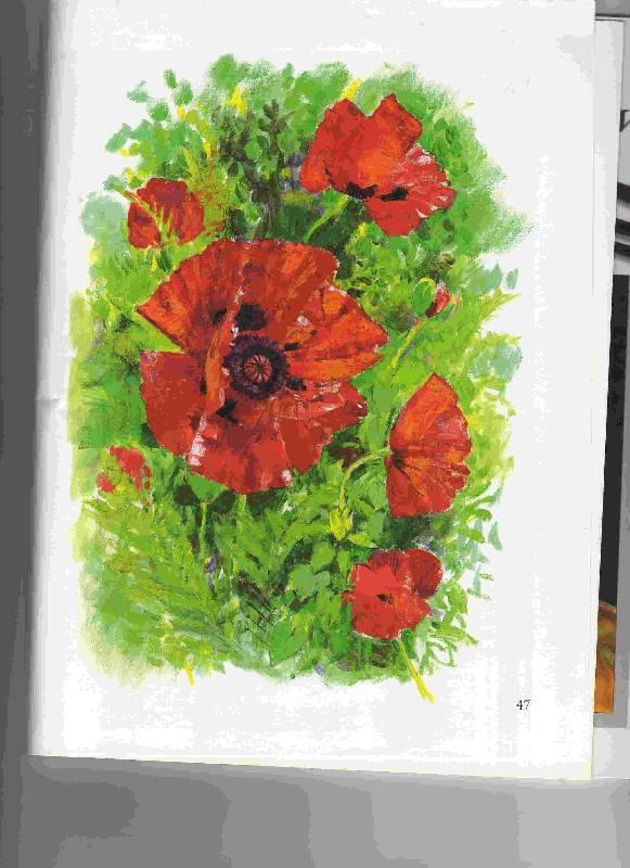 Цветы рисуем акрилом