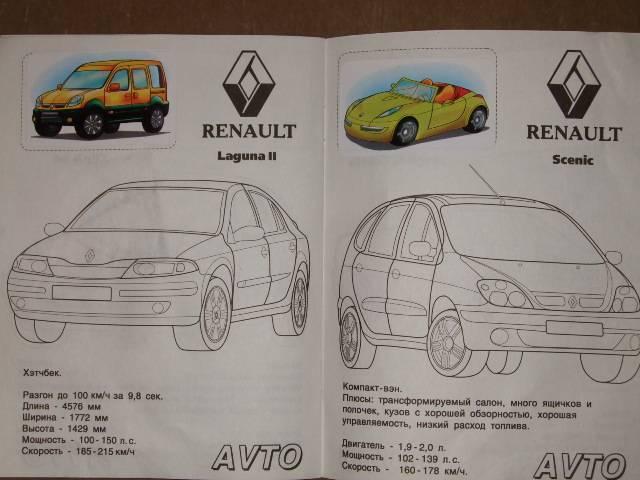 Иллюстрация 1 из 2 для Автомобили: Renault   Лабиринт - книги. Источник: *  Надежда