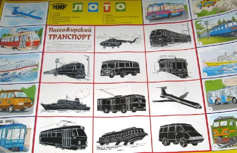 Иллюстрация 1 из 12 для Лото: Пассажирский транспорт 690 (350х500)   Лабиринт - игрушки. Источник: Zhanna