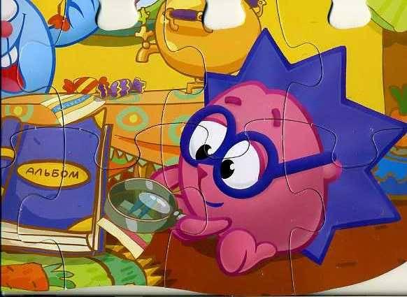 Иллюстрация 1 из 6 для Maxi Puzzle. Смешарики. Крош и Ежик   Лабиринт - игрушки. Источник: Дианна