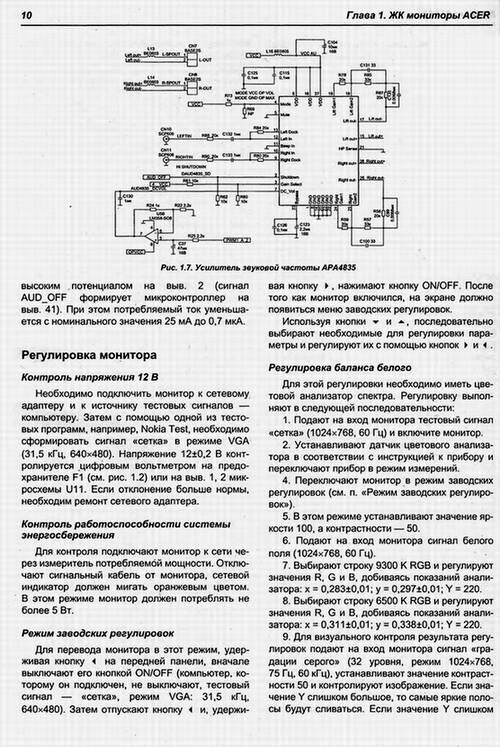 Схема ЖК мониторов Samsung