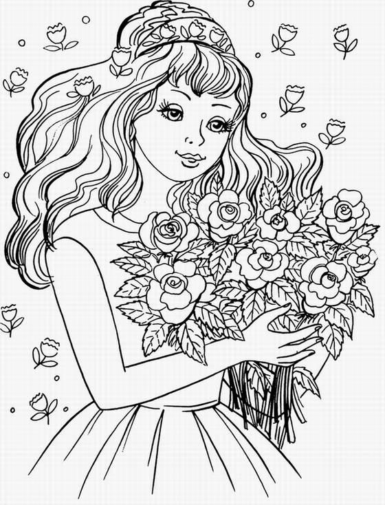 Иллюстрация 1 из 17 для Самая красивая (раскраска) | Лабиринт - книги. Источник: Panterra