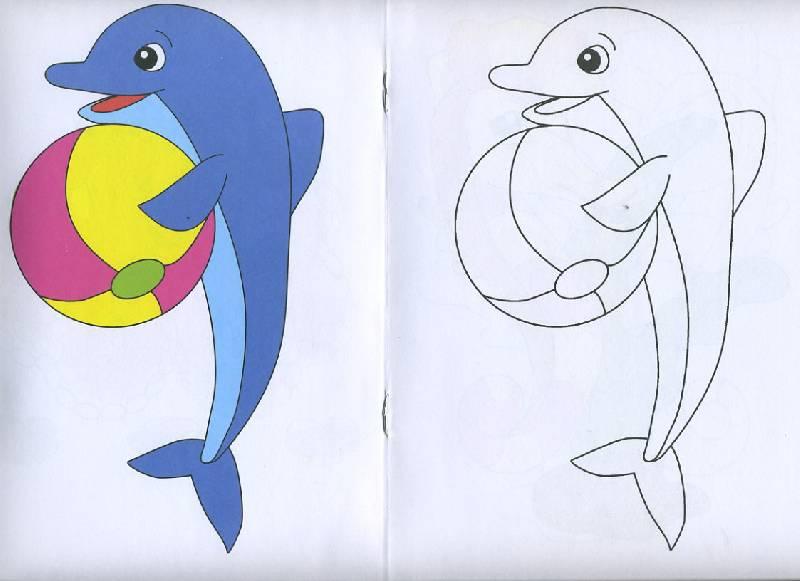 Иллюстрация 1 из 5 для Посмотри и раскрась: Морские жители | Лабиринт - книги. Источник: Pallada