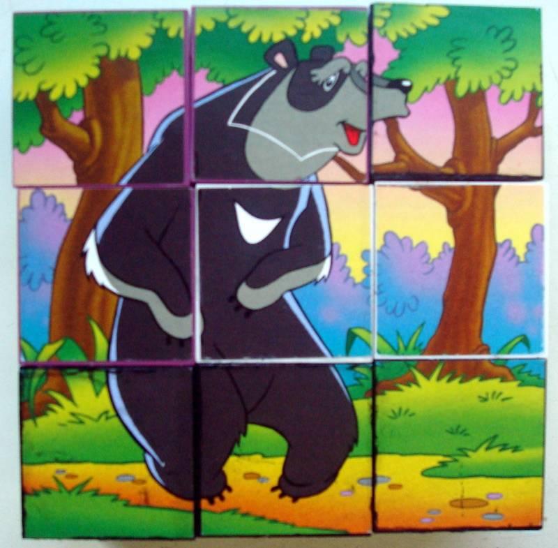 """Иллюстрация 1 из 11 для 9 кубиков 87312 """"Любимые мультфильмы""""-4   Лабиринт - игрушки. Источник: Бривух"""