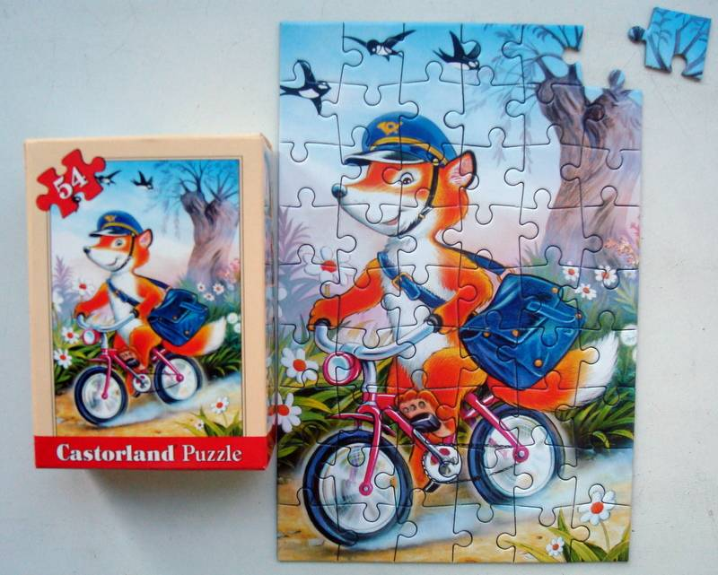 Иллюстрация 1 из 4 для Puzzle-54. Нарисованные зверята в ассортименте, 32 штуки (А-08521-Z) | Лабиринт - игрушки. Источник: Бривух