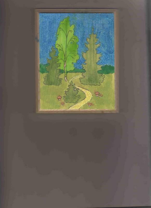 Иллюстрация 1 из 2 для Пейзажи: Лесная тропинка. Роспись по дереву | Лабиринт - игрушки. Источник: Урядова  Анна Владимировна