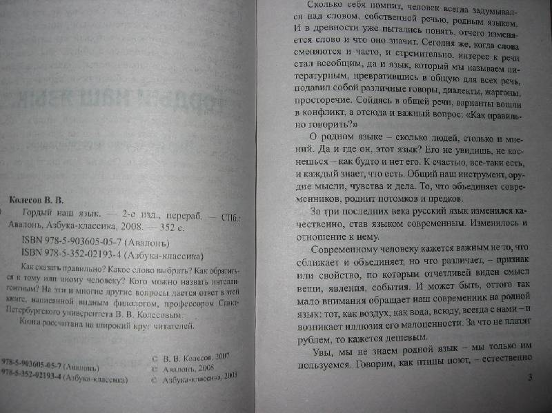 Иллюстрация 1 из 22 для Гордый наш язык - Владимир Колесов | Лабиринт - книги. Источник: Caaat