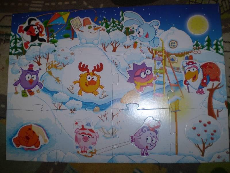 Иллюстрация 1 из 12 для Maxi Puzzle. Смешарики. Зима   Лабиринт - игрушки. Источник: С  М В