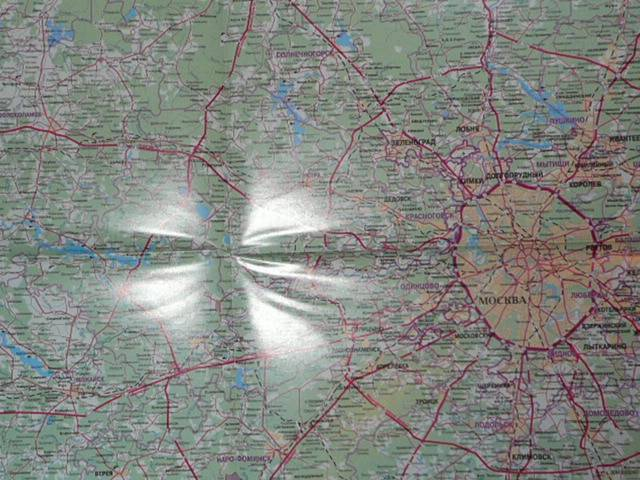 Складная карта на мелованной