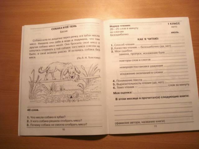 Иллюстрация из для Читательский дневник Контрольное пособие  Иллюстрация 3 из 25 для Читательский дневник Контрольное пособие для проверки техники чтения учащихся 1