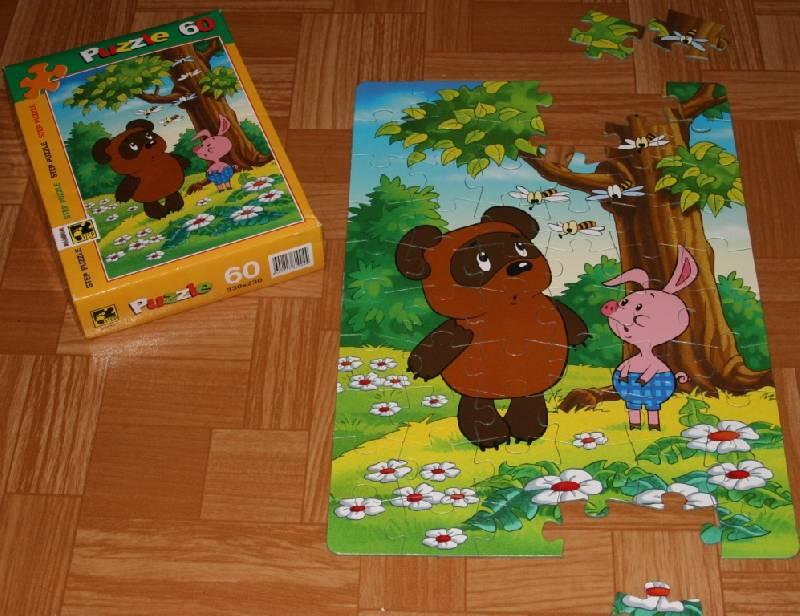 Иллюстрация 1 из 16 для Step Puzzle-60 81004 Винни Пух   Лабиринт - игрушки. Источник: Котёнок по имени Гав