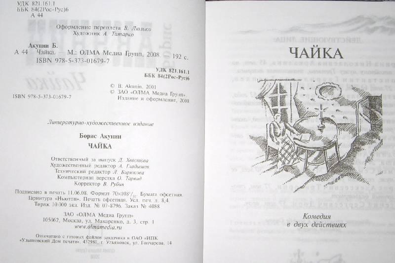 Иллюстрация 1 из 9 для Чайка - Акунин, Чехов | Лабиринт - книги. Источник: Читательница