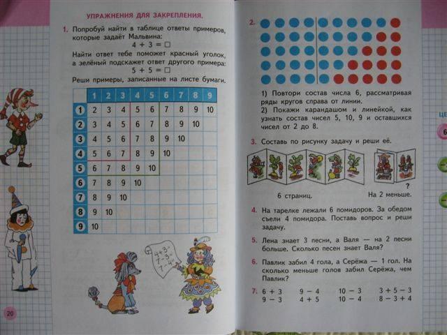 часть ответы по школа россии математике 1 гдз 1 класс