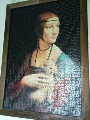 Иллюстрация 1 из 2 для Puzzle-1000.С-100958.Дама с горностаем | Лабиринт - игрушки. Источник: Hoty