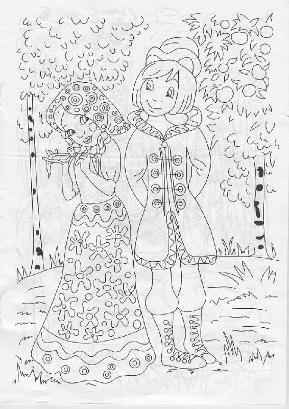 Иллюстрация 1 из 8 для Раскраска: Русские народные сказки (Р040101) | Лабиринт - книги. Источник: The Cat