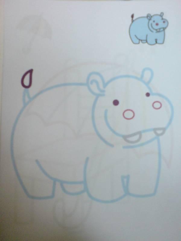 Иллюстрация 1 из 3 для Цветные раскраски. 3-5 лет. Бегемот | Лабиринт - книги. Источник: Настёна
