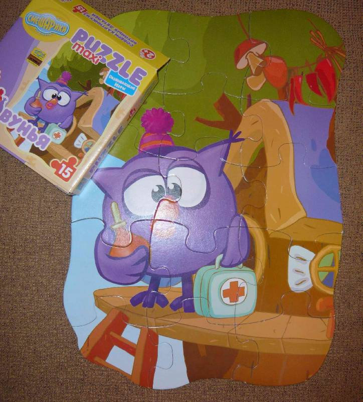Иллюстрация 1 из 3 для Maxi Puzzle. Смешарики. Совунья | Лабиринт - игрушки. Источник: Jull