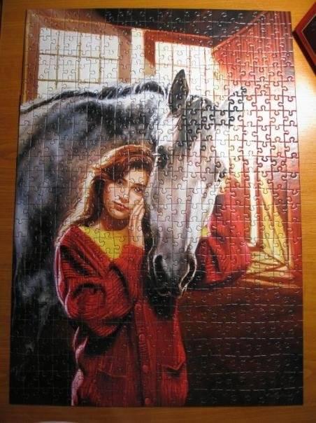 Иллюстрация 1 из 5 для Puzzle-500. Девушка с лошадью (В-51236) | Лабиринт - игрушки. Источник: Hoty