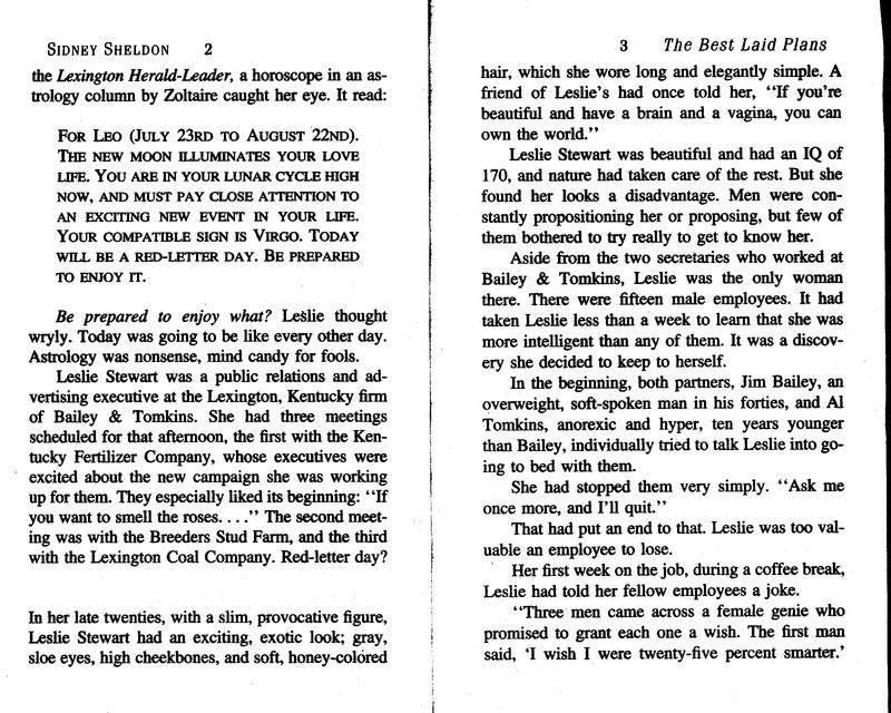Иллюстрация 1 из 9 для The Best Laid Plans - Sidney Sheldon | Лабиринт - книги. Источник: МИА