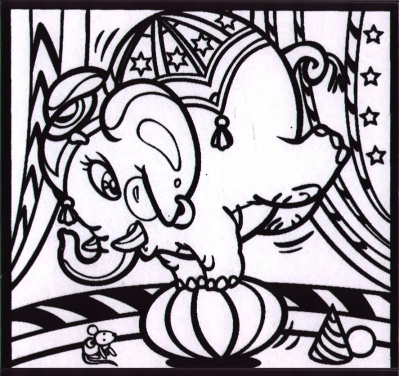 Иллюстрация 1 из 2 для Бархатные раскраски-мини. Слон в цирке (1422) | Лабиринт - игрушки. Источник: OOlga