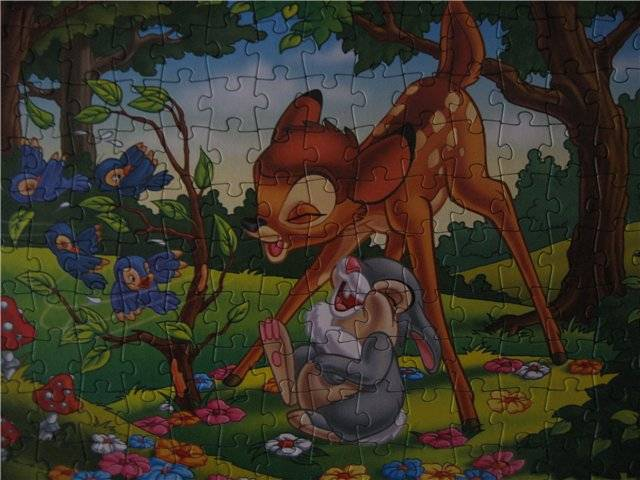 Иллюстрация 1 из 7 для Step Puzzle-160  Бэмби с зайчиком (94008) | Лабиринт - игрушки. Источник: малышка Мю