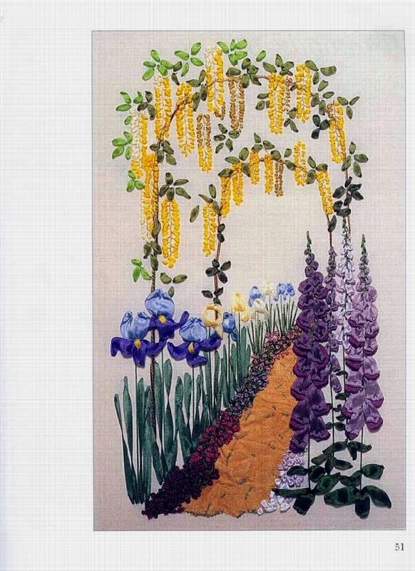 Иллюстрация 1 из 28 для Вышивка шелковыми ленточками - Энн Кокс | Лабиринт - книги. Источник: Panterra