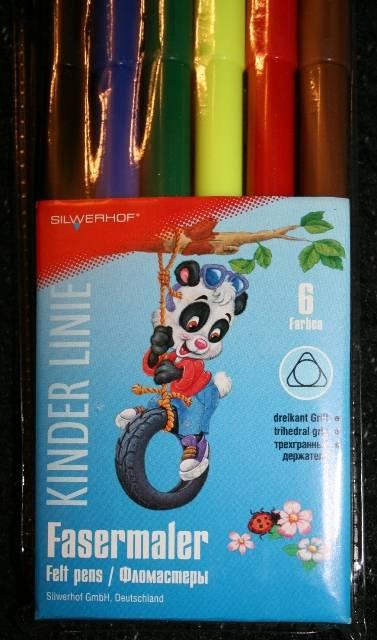 Иллюстрация 1 из 2 для Фломастеры 6 цветов (860624-06) Panda | Лабиринт - канцтовы. Источник: Ветерцовская  Галина Валериевна