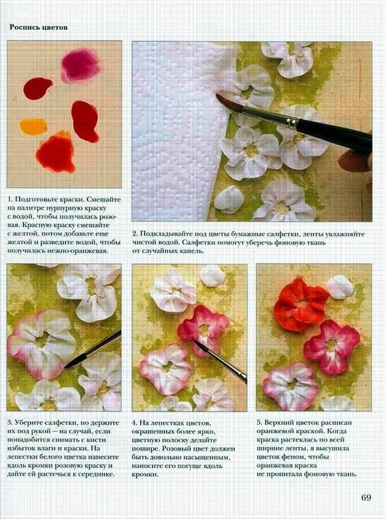 Вышивка шелковыми лентами книги