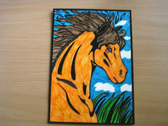 Иллюстрация 1 из 2 для Бархатная раскраска. Лошадь | Лабиринт - игрушки. Источник: soika
