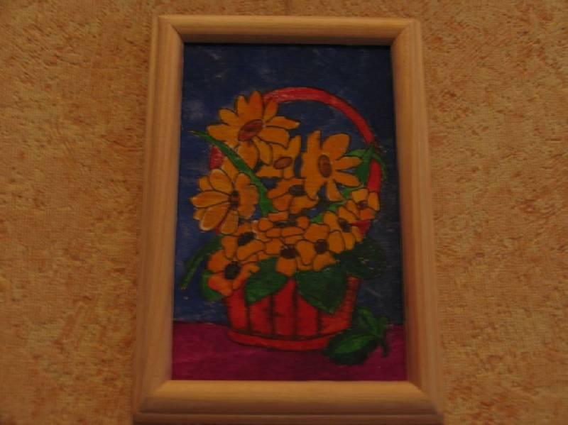 Иллюстрация 1 из 4 для Букет: роспись по дереву в рамке | Лабиринт - игрушки. Источник: ВВС
